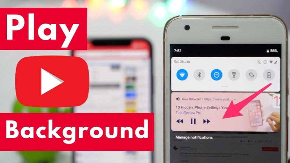 play youtube in background app